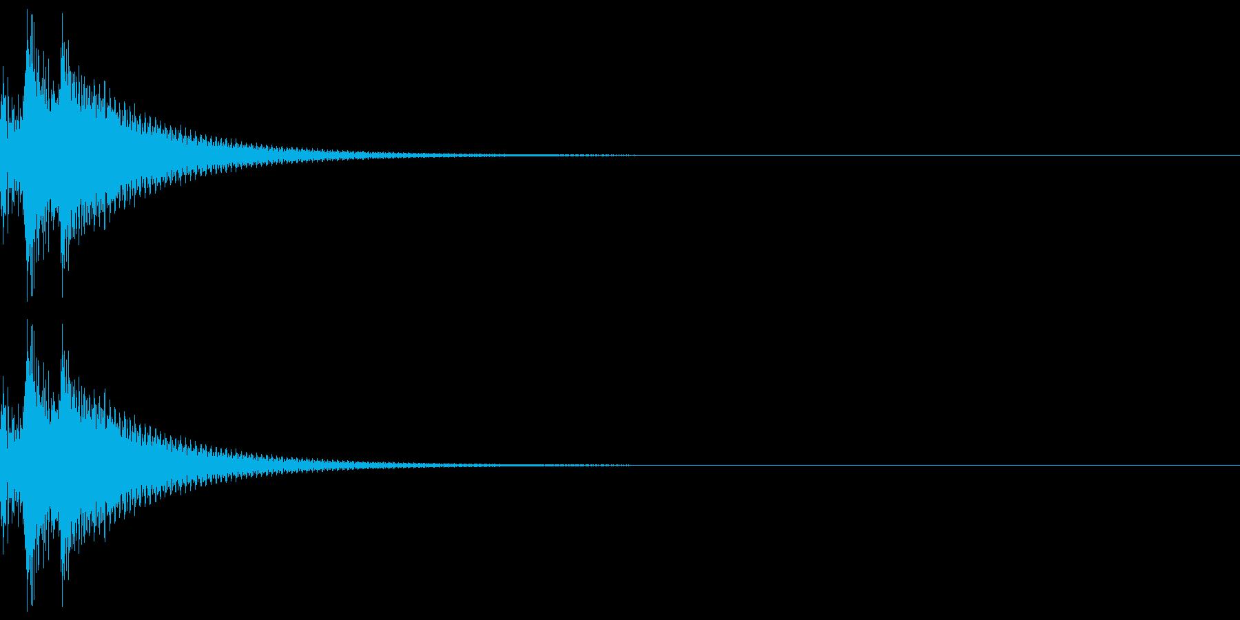しっくりくるゲーム操作音01_キャンセルの再生済みの波形