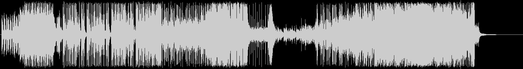 ピアノメインの疾走感あるBGMの未再生の波形
