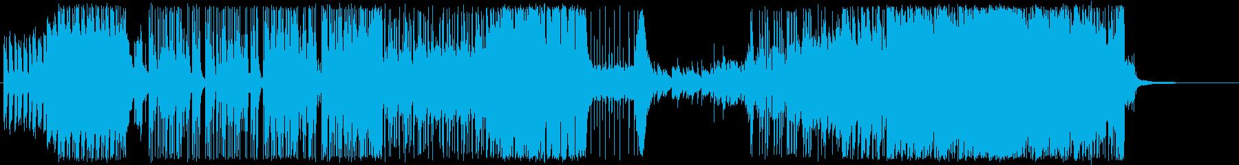 ピアノメインの疾走感あるBGMの再生済みの波形