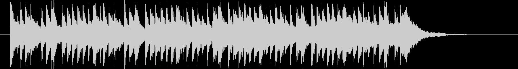 透明感のある鉄琴が印象的なBGMの未再生の波形