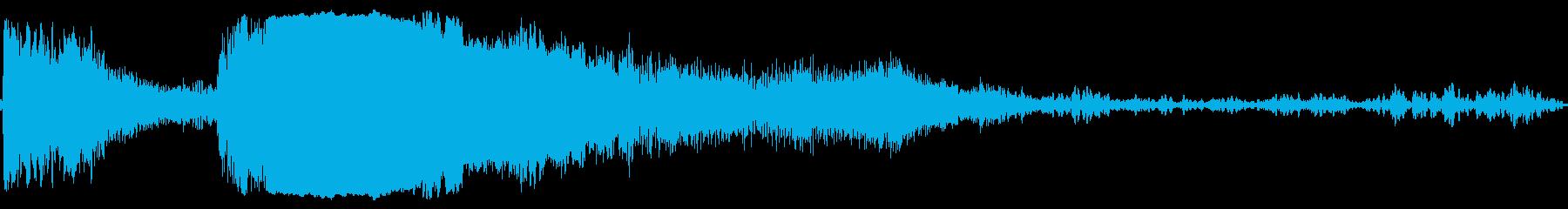 マスタングスタートとホットピールアウトの再生済みの波形