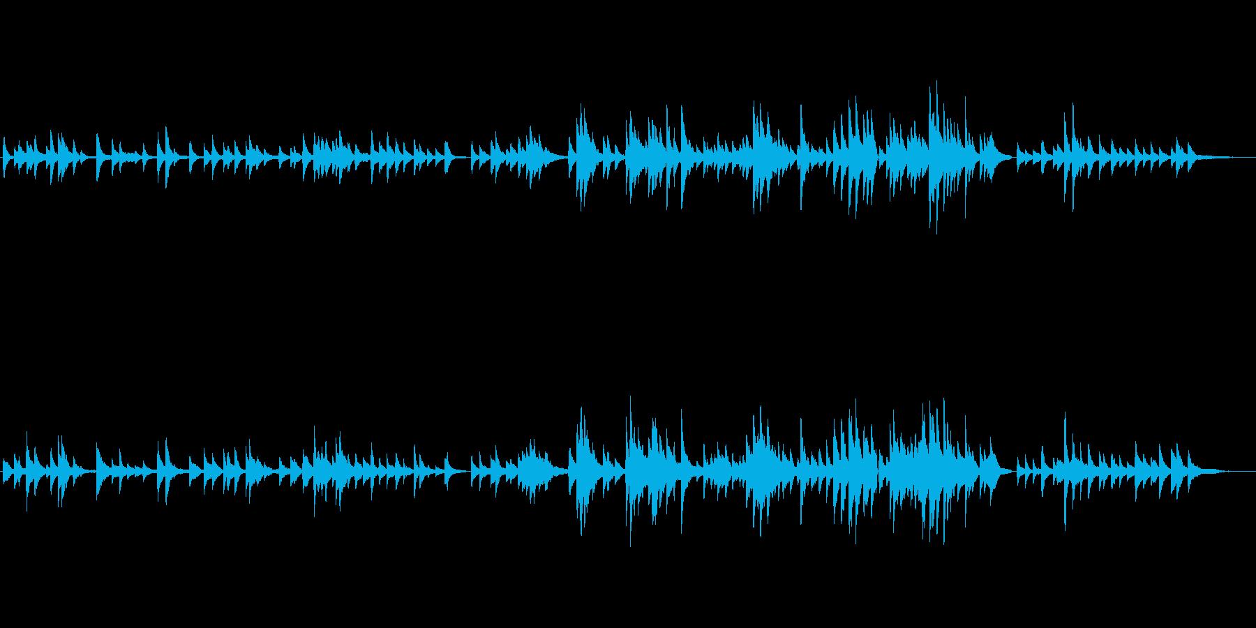生ピアノソロ・クリスマス曲・バラードの再生済みの波形