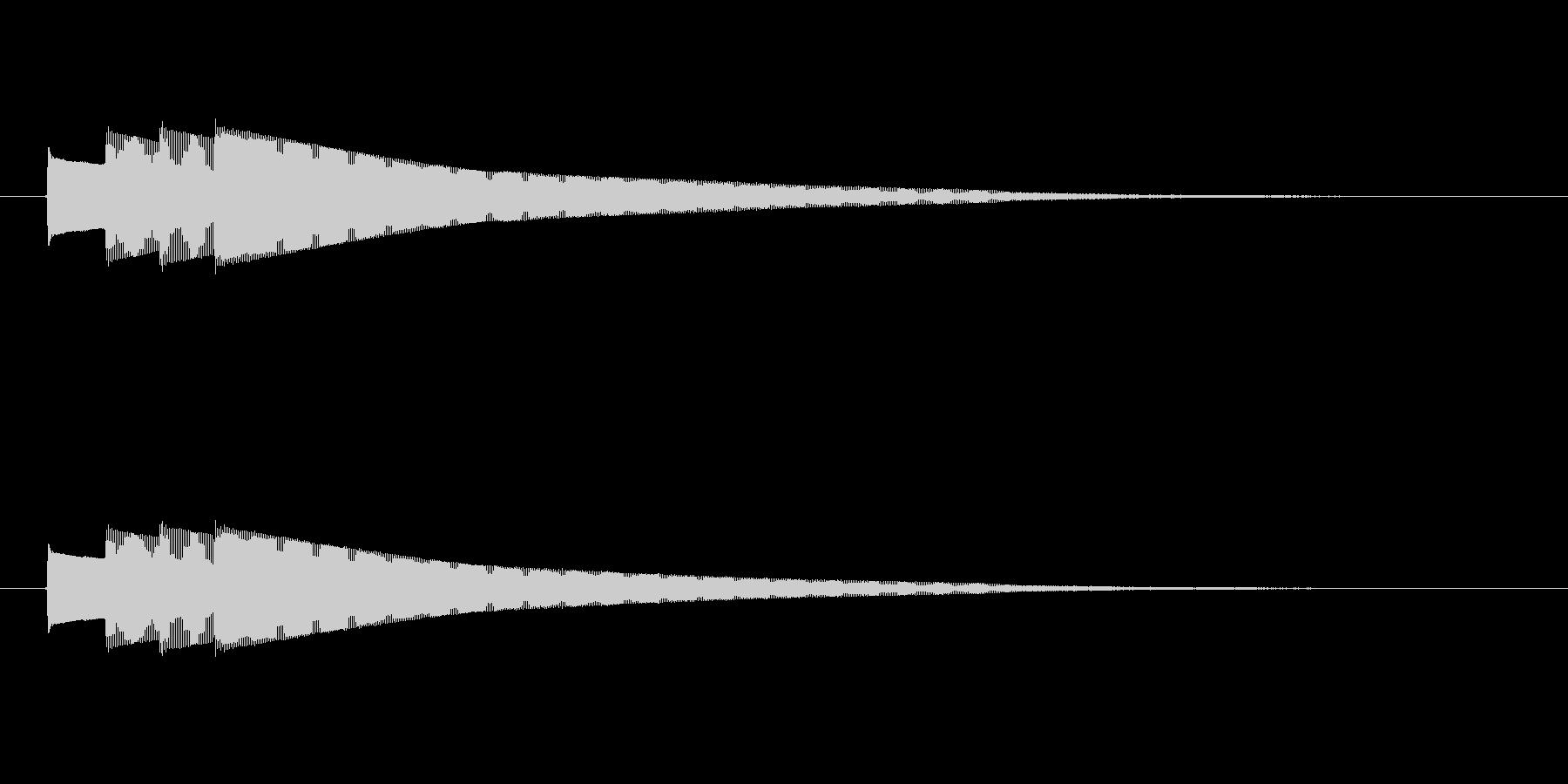 終わりピンポンパンポン (ゆっくり)の未再生の波形