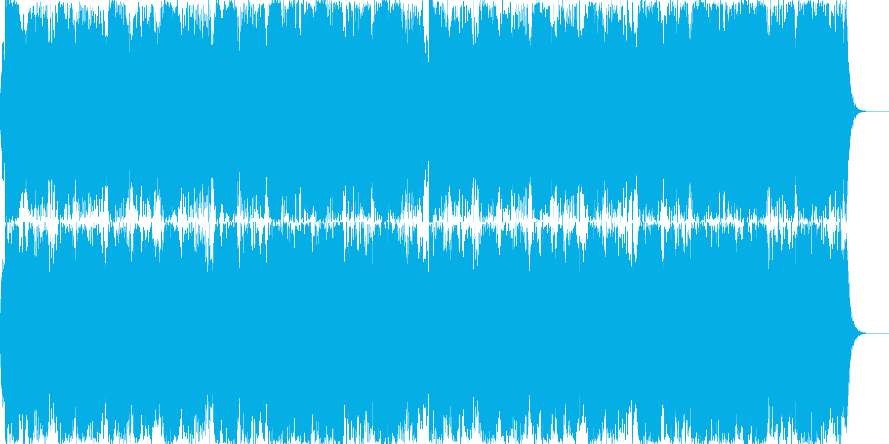 スケールの大きなファンタジーBGMの再生済みの波形