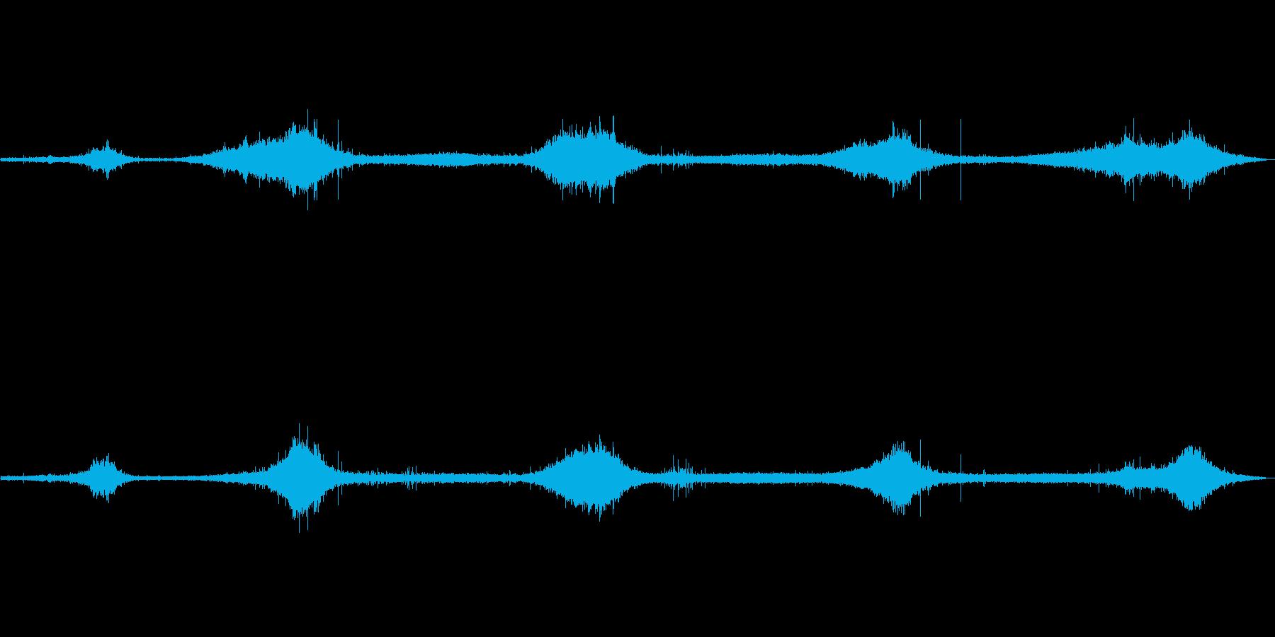 ゴットランド島の波の音 弱め ザザーの再生済みの波形