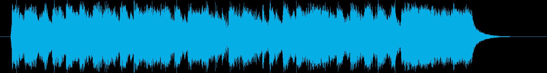 豪華で勢いのあるシンセオルガンサウンドの再生済みの波形