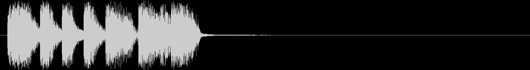 トランペットがカッコいいアイキャッチの未再生の波形