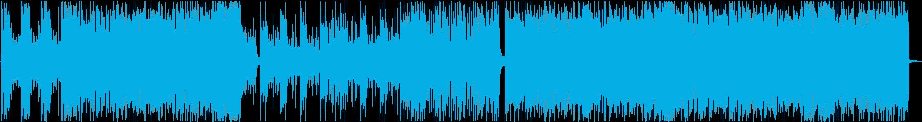 GAME】ヘビーなテーマ曲風ロックの再生済みの波形