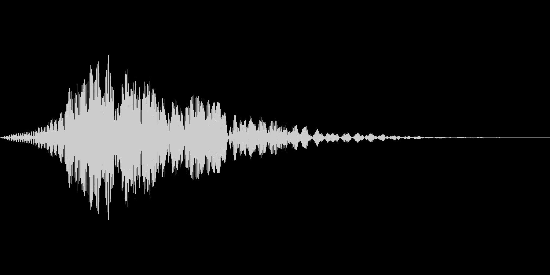 ゲーム上のウィンドウ等でキャンセル時の音の未再生の波形