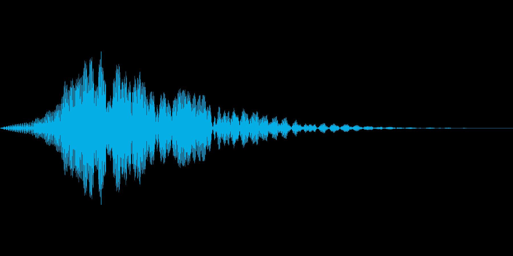 ゲーム上のウィンドウ等でキャンセル時の音の再生済みの波形