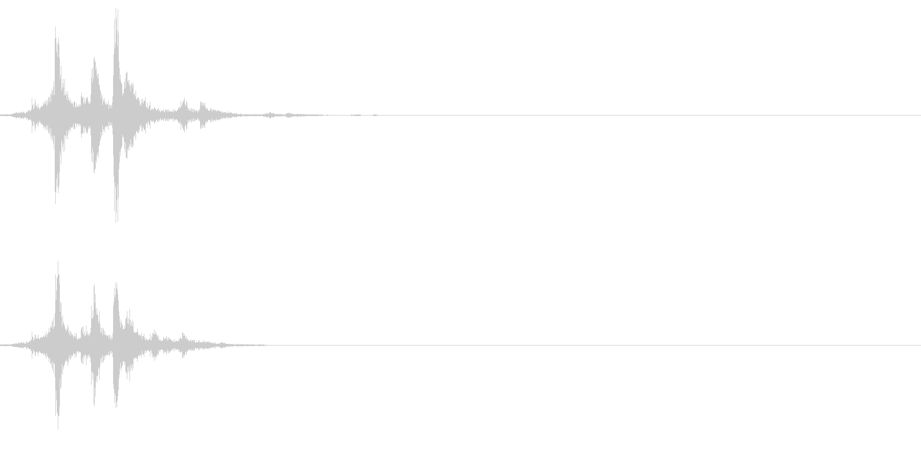 【機械/ロボット系013】ガシャンの未再生の波形