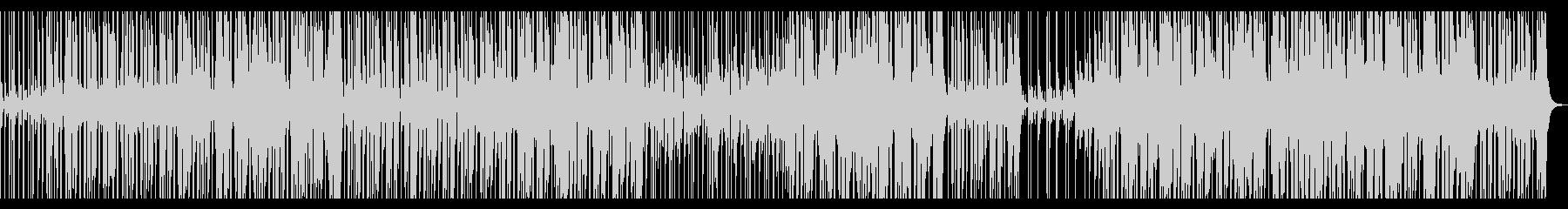 スローテンポのファンクロックインストの未再生の波形