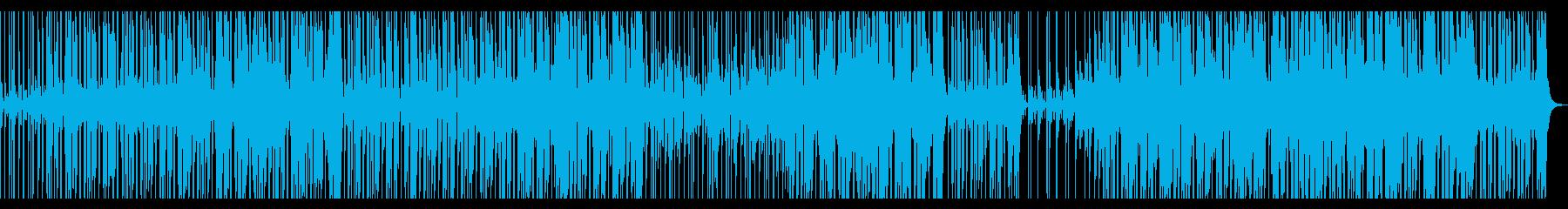 スローテンポのファンクロックインストの再生済みの波形