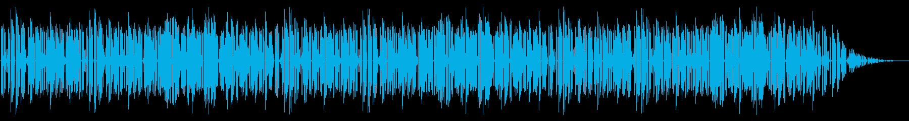 GB風シューティングのステージ曲の再生済みの波形
