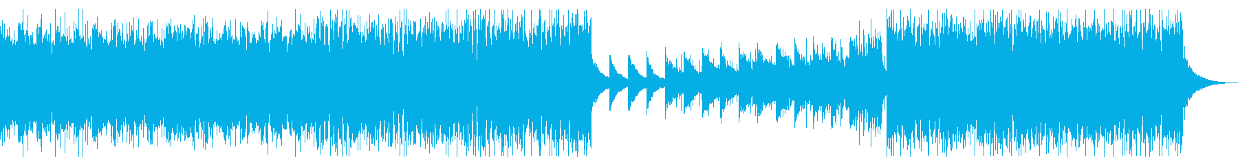 企業VP、CM02。ピアノ、四つ打ちの再生済みの波形