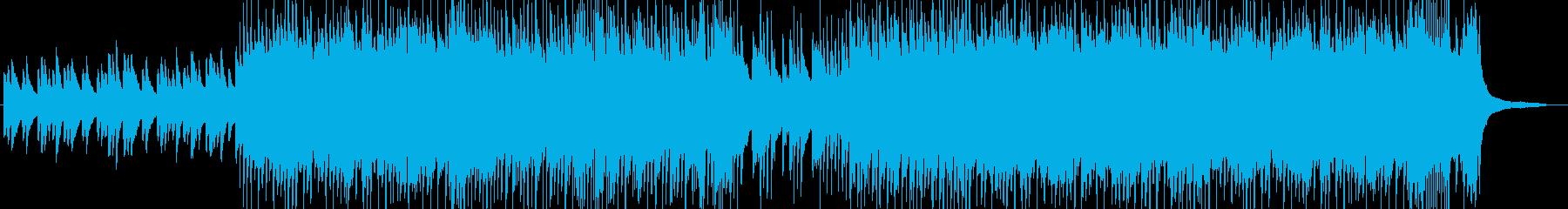 子供が戯れるイメージの和曲の再生済みの波形