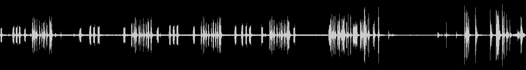 電子レジスターの未再生の波形