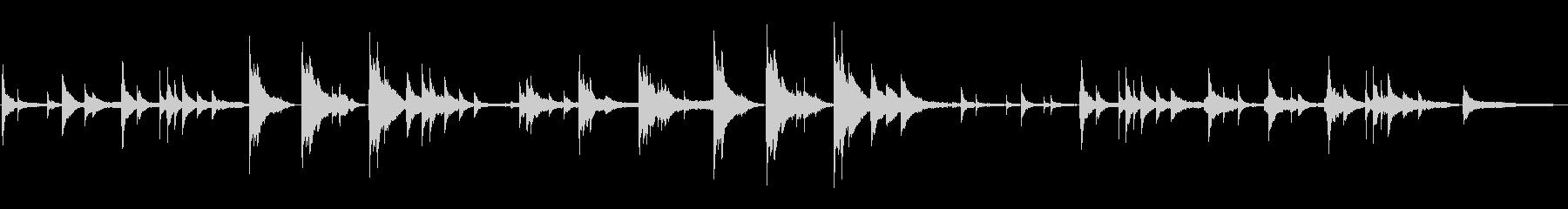 静けさやリラックスを感じるピアノBGMの未再生の波形