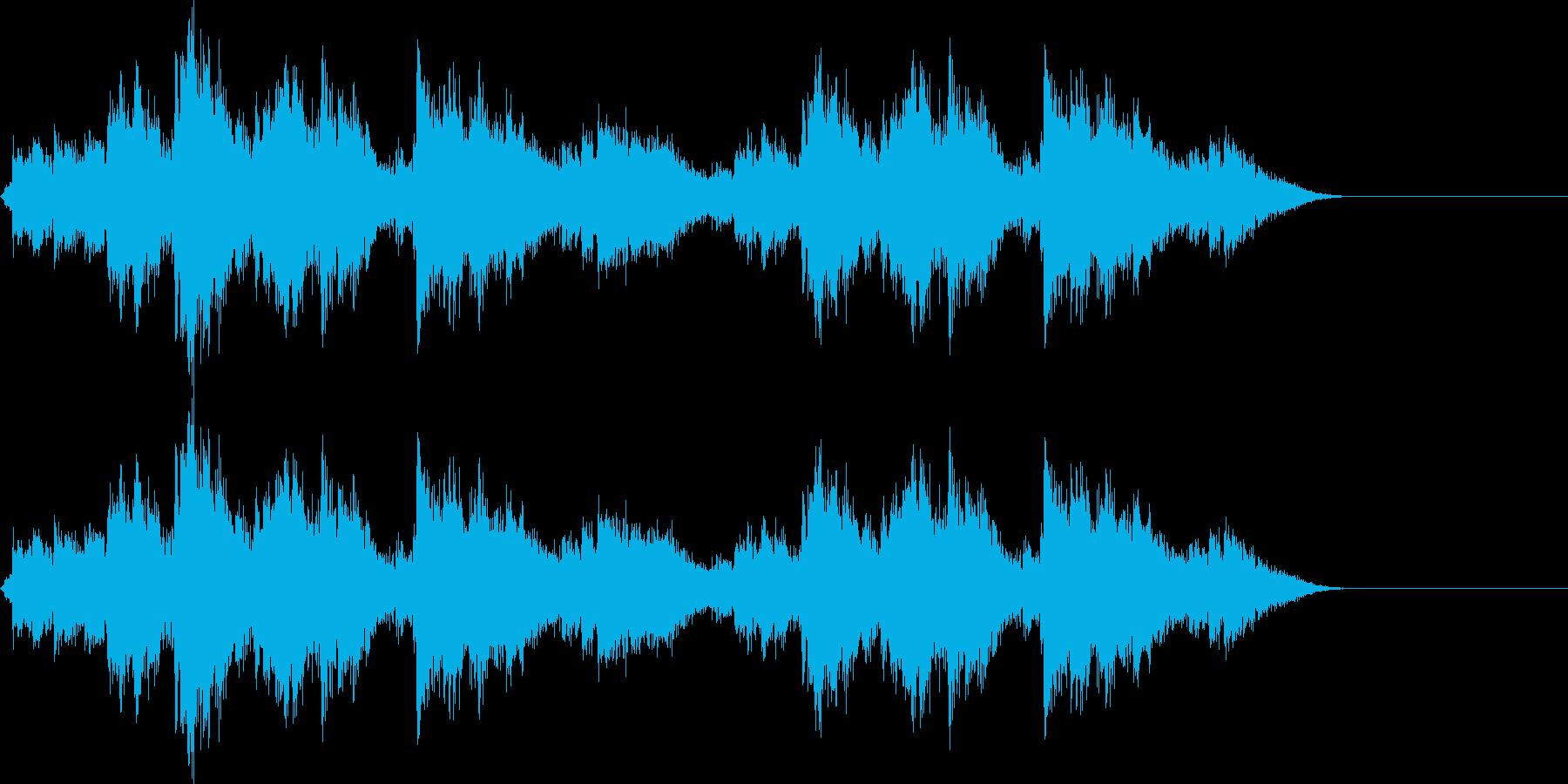 神社の本坪鈴 ガランガランガランの再生済みの波形