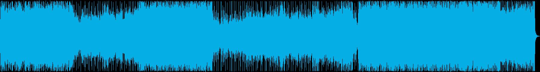 イベント・映像ラストに盛り上がる曲の再生済みの波形