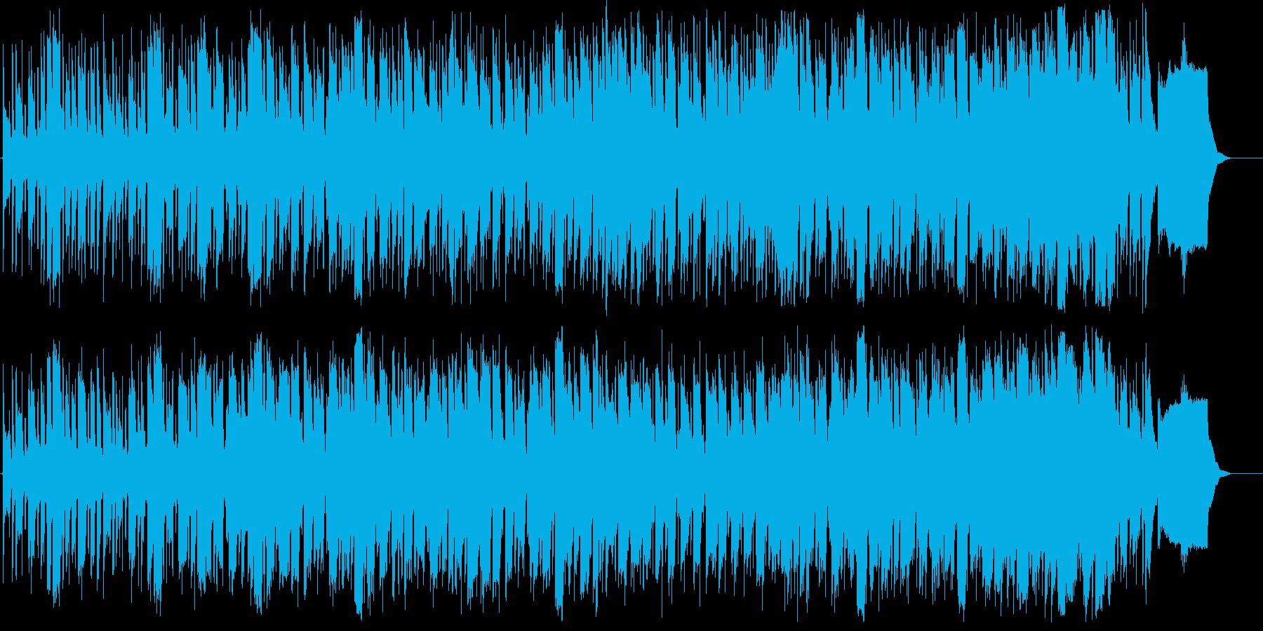 やさしい和やかなメロディーの再生済みの波形
