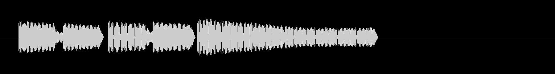 レトロゲーム・和風のジングル4の未再生の波形