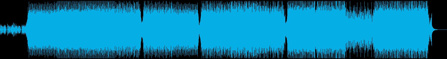 激しいビートがやかましい、ハードテクノの再生済みの波形