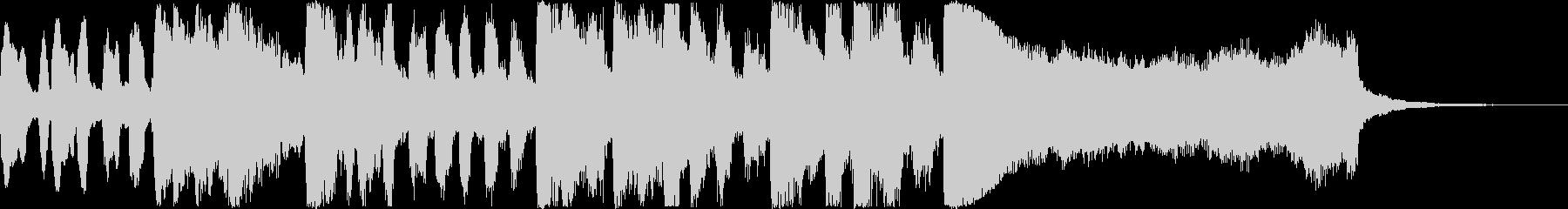 王道の明るいトランペット・ファンファーレの未再生の波形