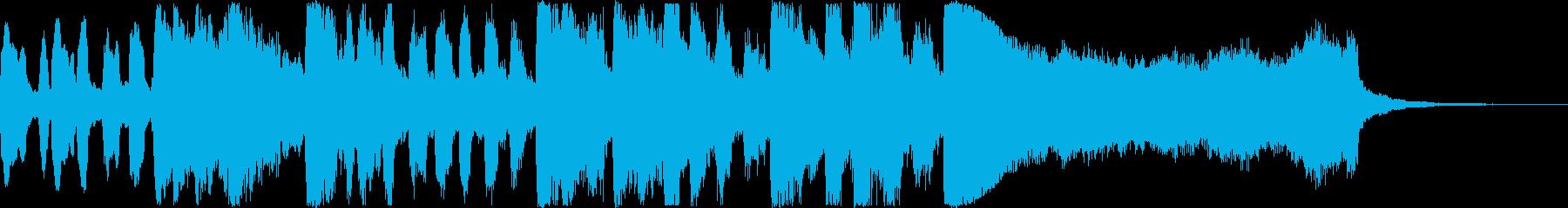 王道の明るいトランペット・ファンファーレの再生済みの波形