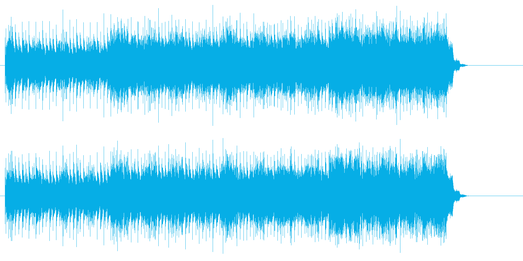 ハードロックの王道を行く直感的ギターの再生済みの波形