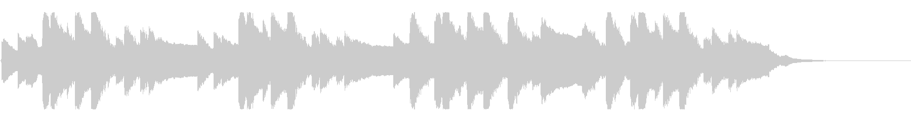 横断歩道 誘導音-5_故郷の空_revの未再生の波形
