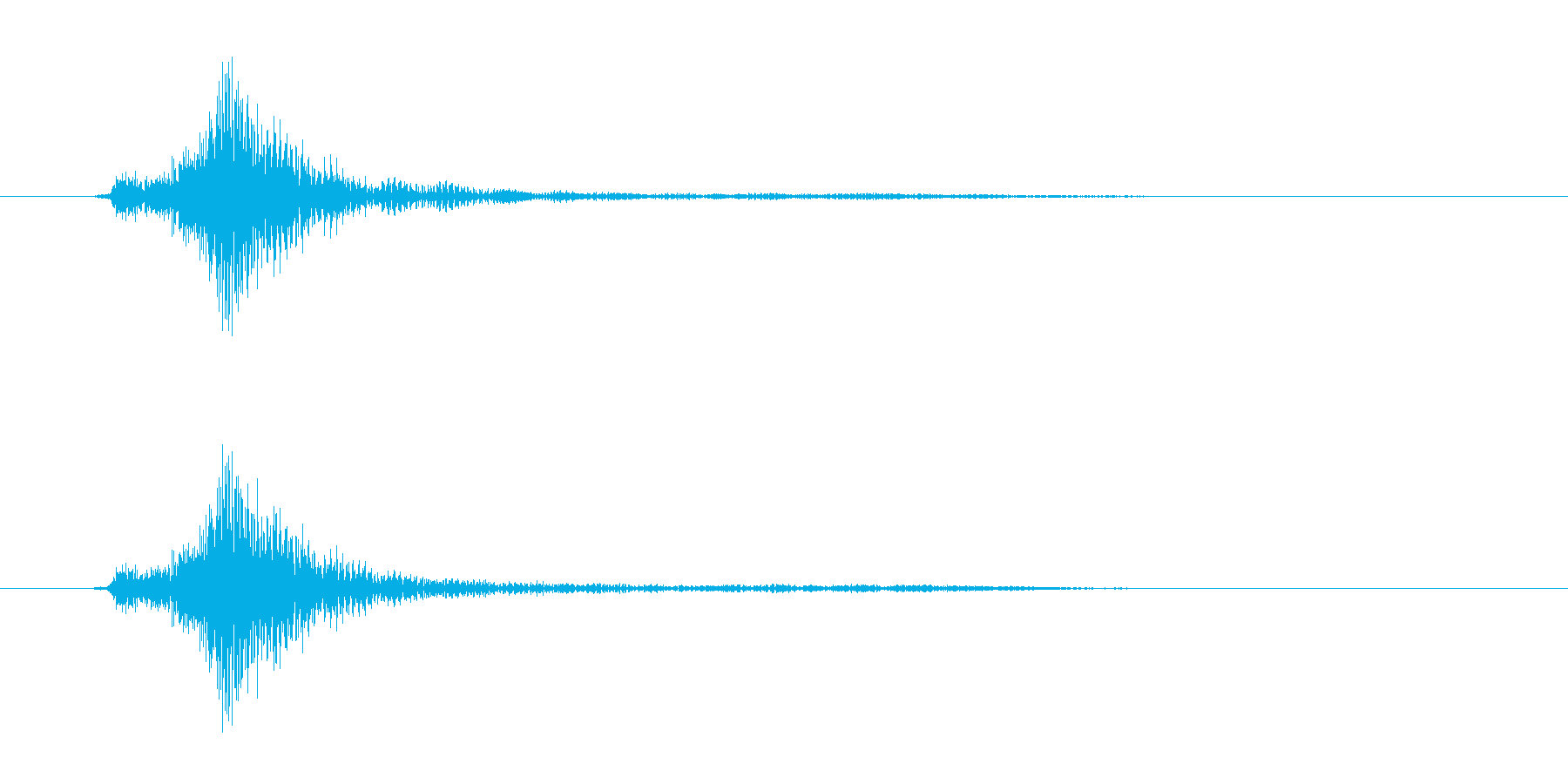 ゲーム・アプリSEキャンセル、ページ移動の再生済みの波形
