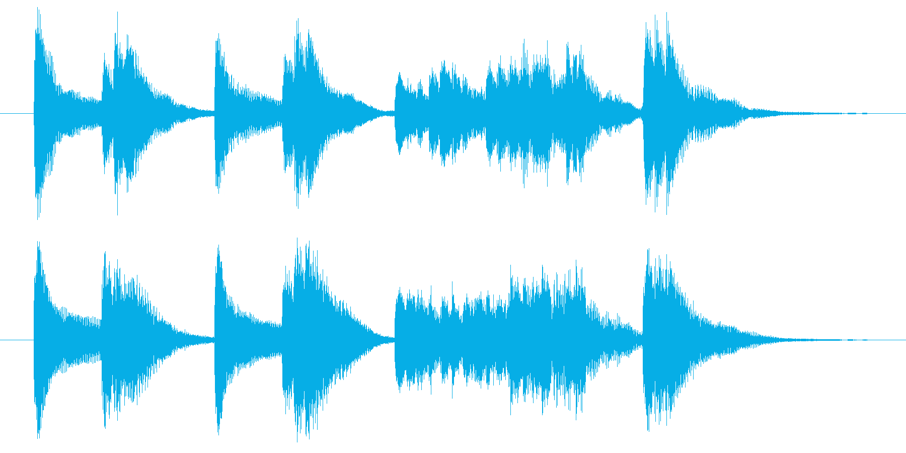 落ち込んだときのピアノジングルの再生済みの波形