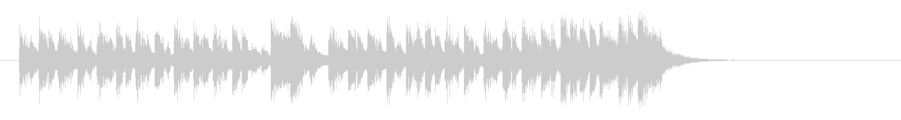 愛らしいコミカル調BGM(イントロ)の未再生の波形