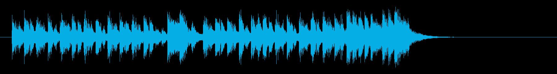 愛らしいコミカル調BGM(イントロ)の再生済みの波形