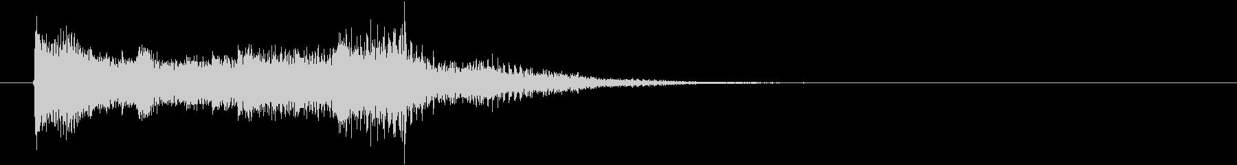 3秒タイプのサウンドロゴです。メカニカ…の未再生の波形