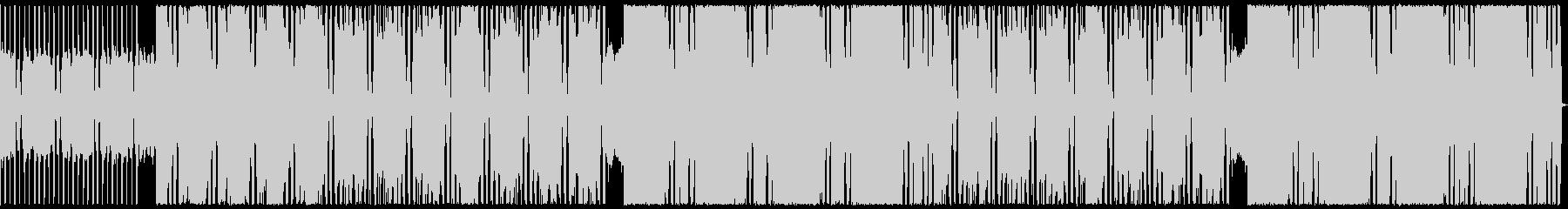 ワイルドなギターロックBGMの未再生の波形