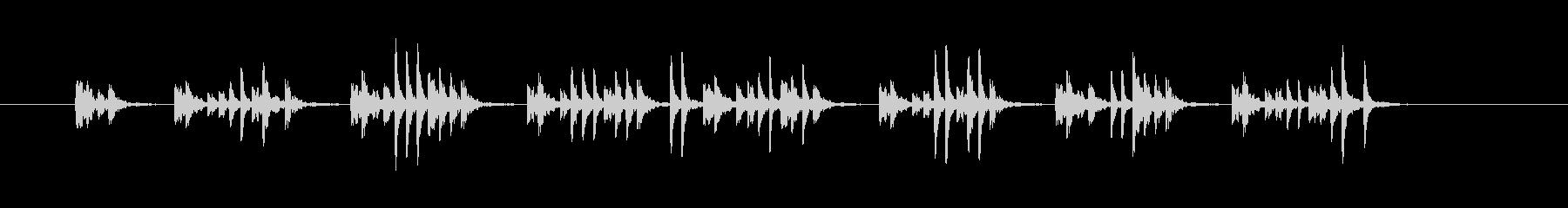 マレットの付いた大気のスタカト弦は...の未再生の波形