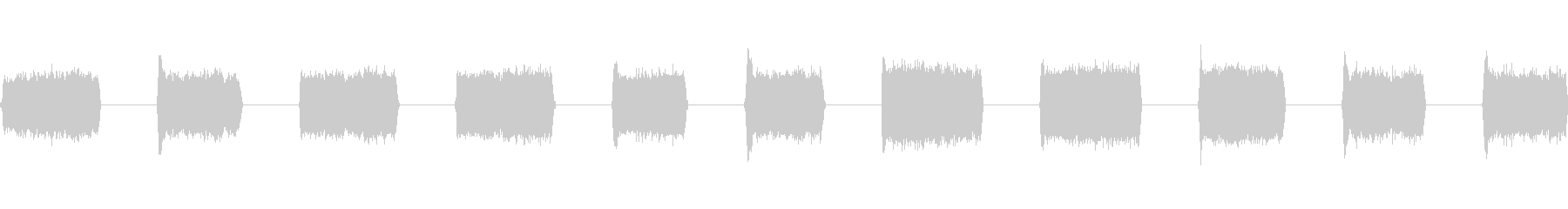 レーザー溶接:高、11バースト、S...の未再生の波形