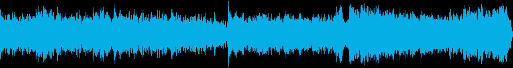 壮大なシネマティック曲(ループ)の再生済みの波形