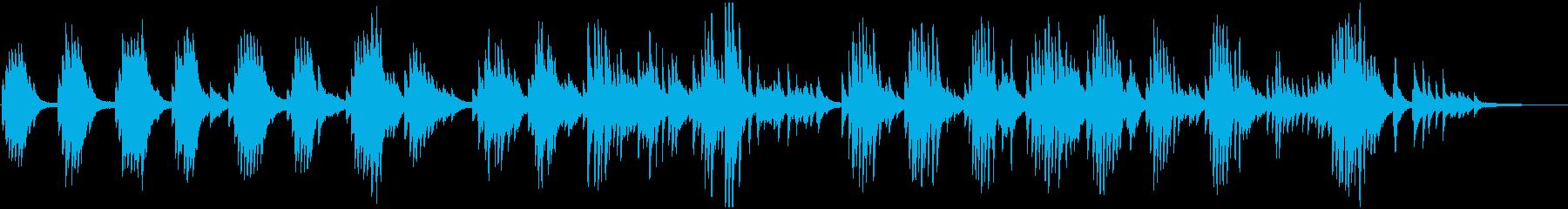 落ち着いた雰囲気のピアノソナタの再生済みの波形