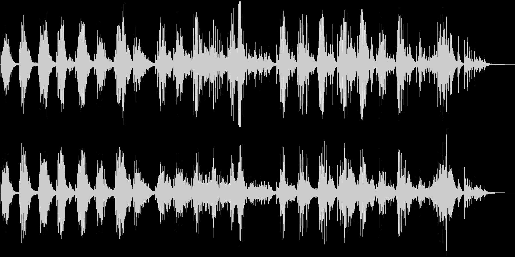 落ち着いた雰囲気のピアノソナタの未再生の波形