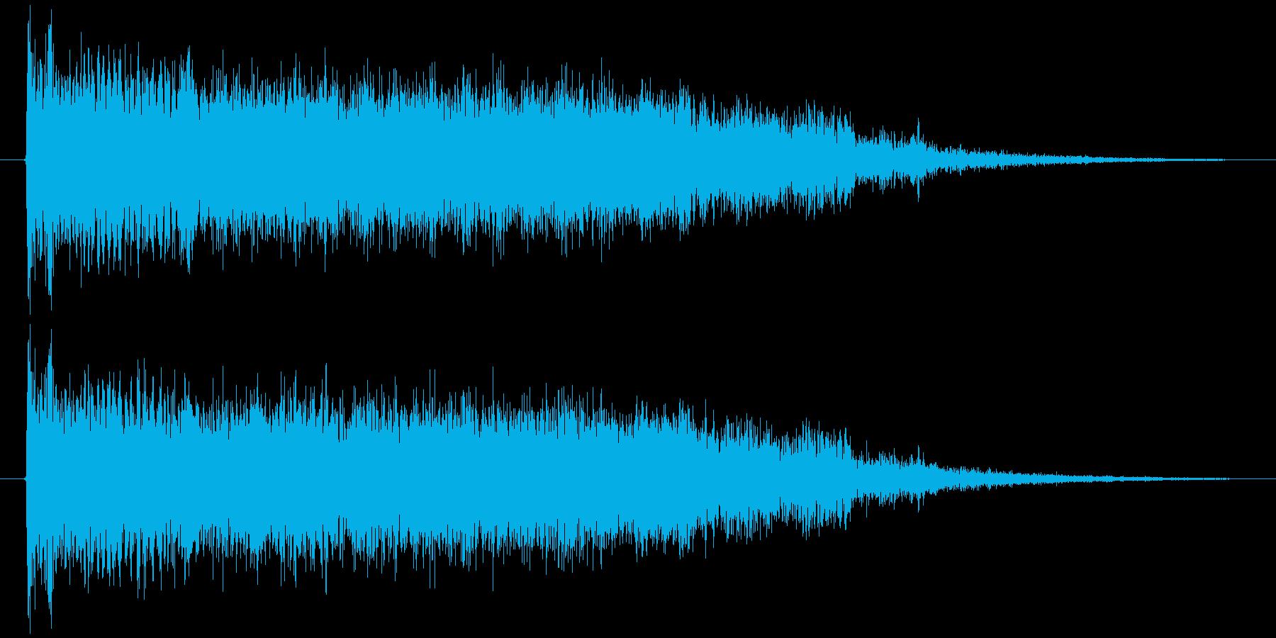 先に登録したものより線の細いイメージですの再生済みの波形