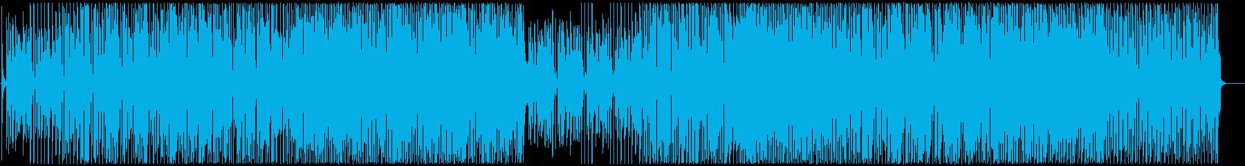 リズミカルではつらつとした雰囲気のBGMの再生済みの波形