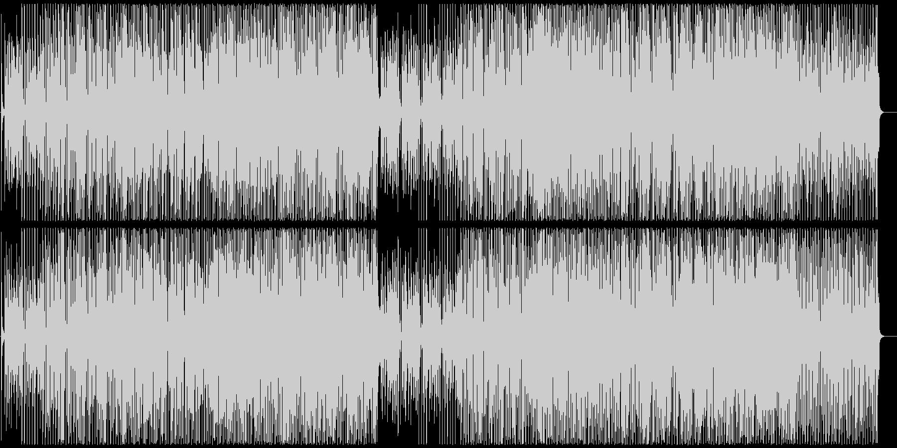 リズミカルではつらつとした雰囲気のBGMの未再生の波形
