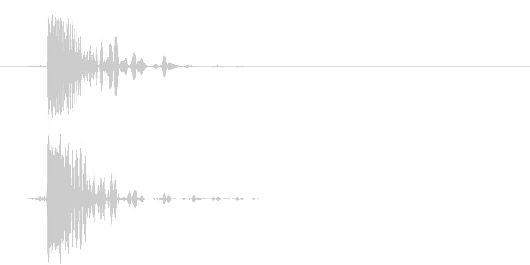 ハードスタブの未再生の波形