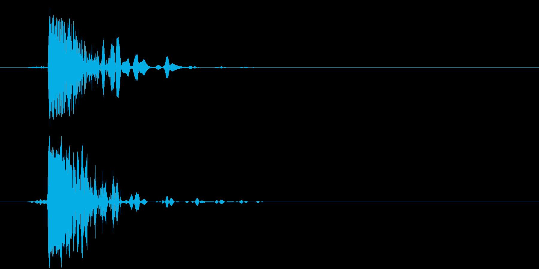 ハードスタブの再生済みの波形