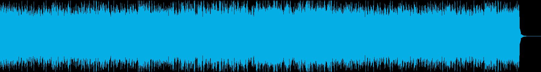 エレキギターを使った疾走感のあるロックの再生済みの波形