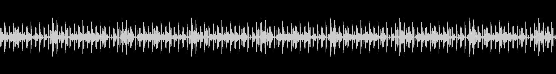 テクノなドラムループの未再生の波形
