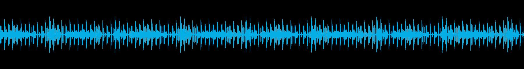 テクノなドラムループの再生済みの波形